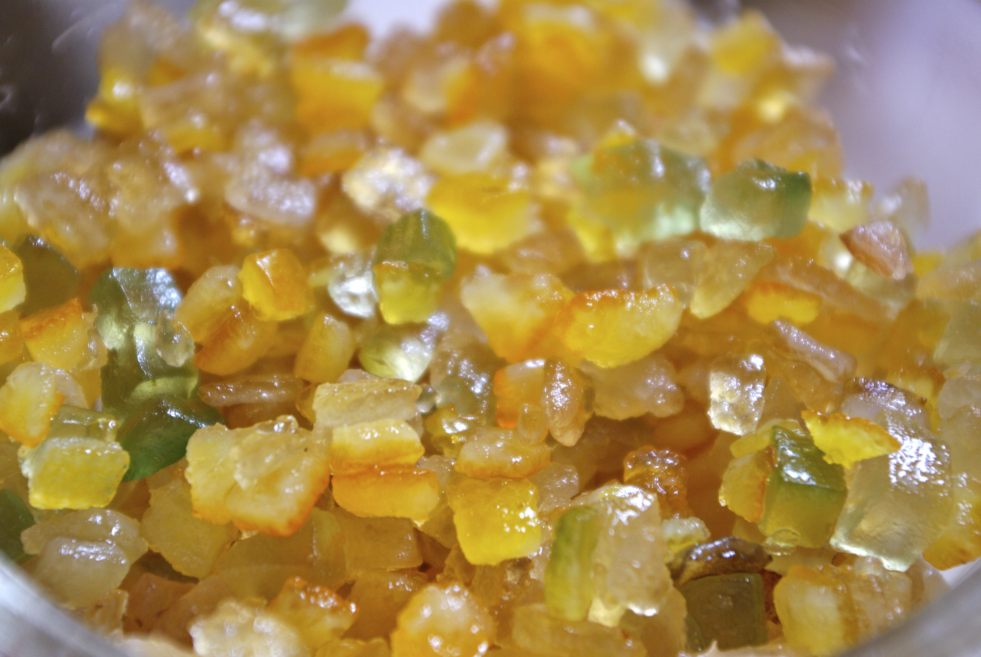 mixed candied peel from King Arthur Flour glistens with goodness