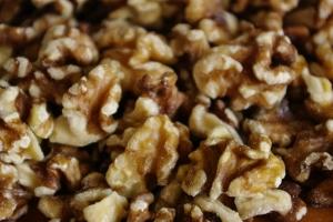 walnuts, as many as didn't fit the jar